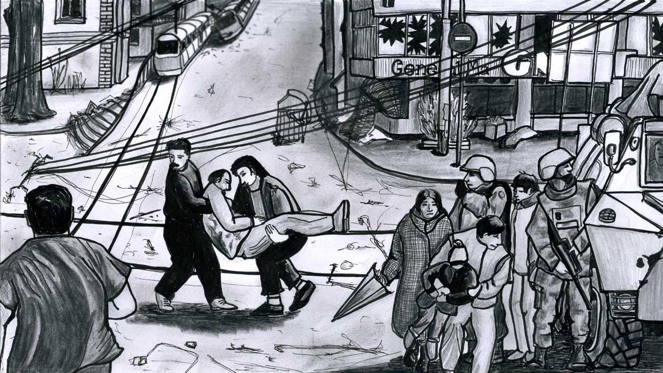 Illustration für den Dokumentarfilm Homestories – Drei Geschwister und ein Krieg