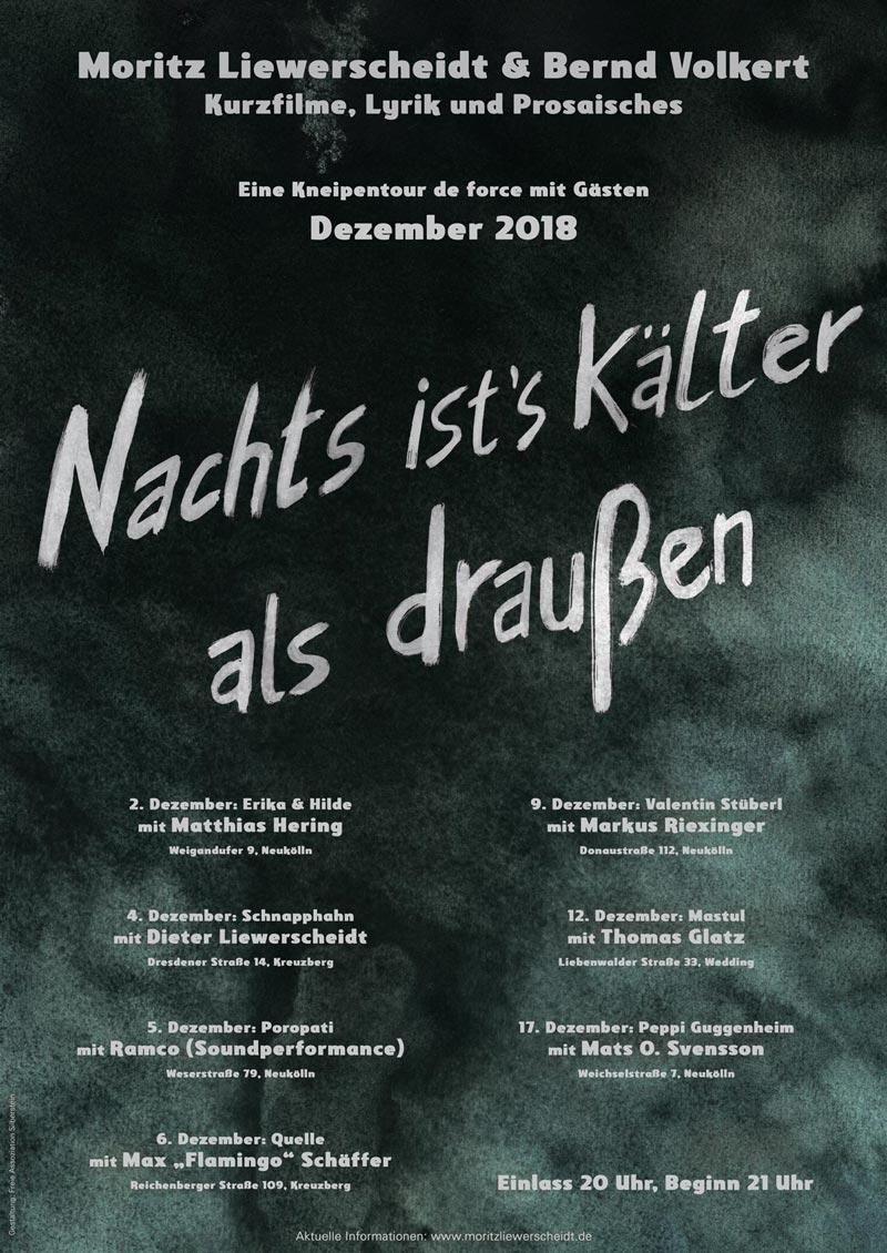 Tourplakat Bernd Volkert Moritz Liewerscheidt 2018