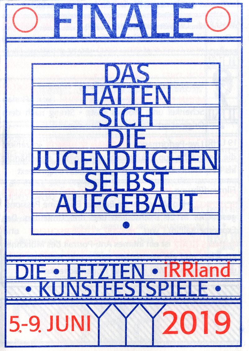 FINALE – Flyer – Titelseite