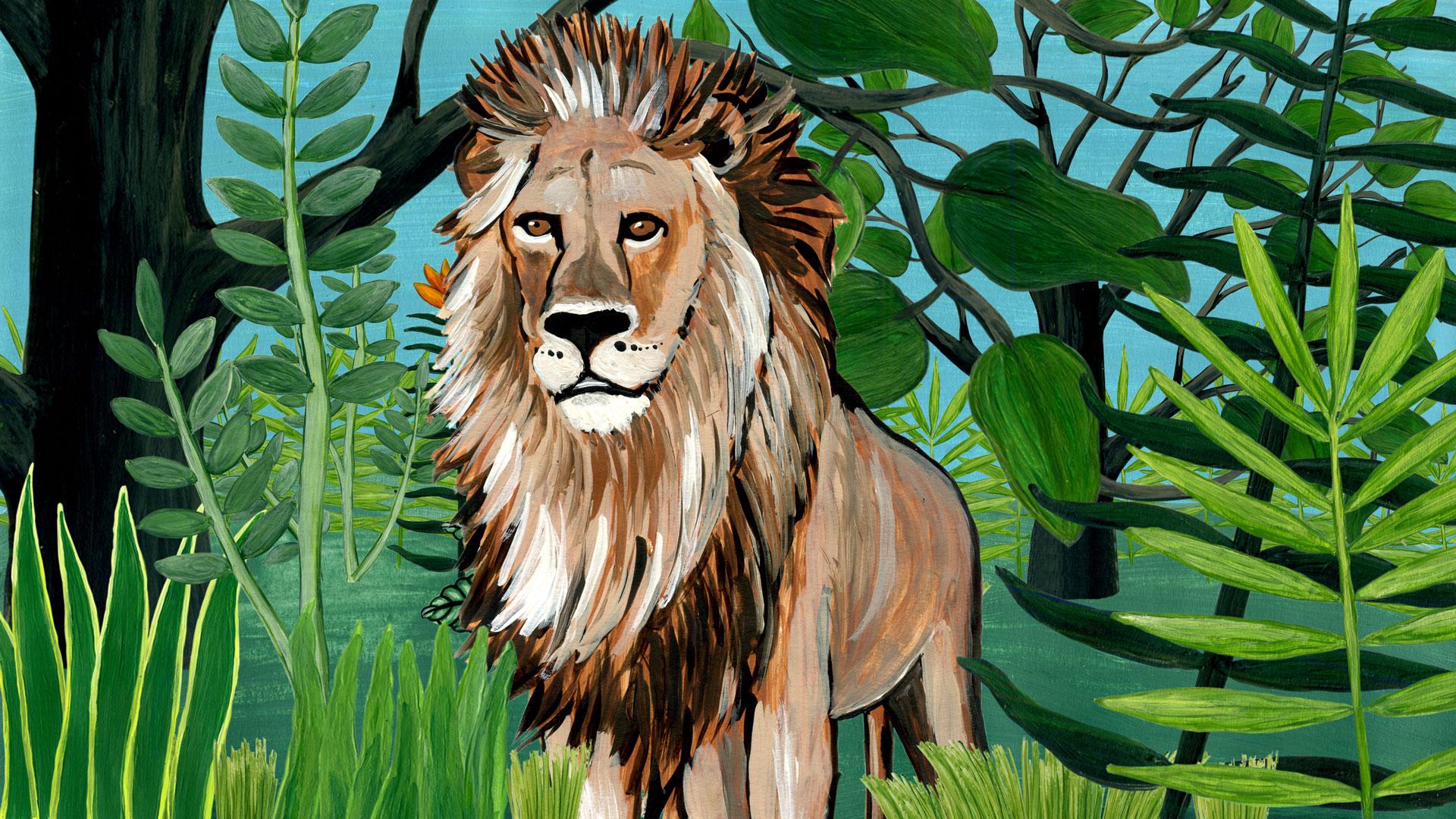 Der Löwe | Tschitrakarna, das vornehme Kamel